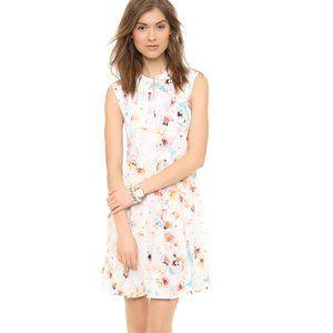 Rebecca Taylor Poppy Godet Dress Silk floral